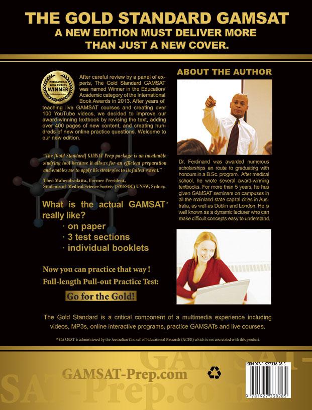 Gold Standard GAMSAT 2019-2020 Edition